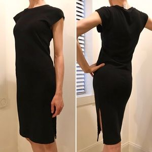 NWT Aritzia Stretchy Black Cap-Sleeved Dress XS 0